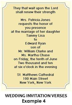 Christian Wedding Invitation Wording Invitation styles etiquette