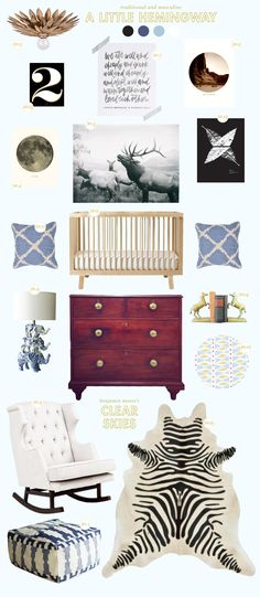 Here is a little nursery inspiration with a traditional feel and a calming palette of baby blues. I came across that gorgeous chest at Scott's last month, and snapped a photo to use as inspiration. I love the giant brass knobs and the way it looks as though it has a lot of good stories […]