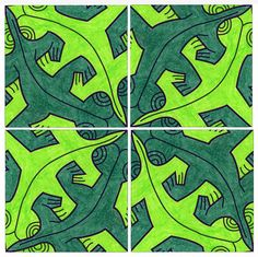 M.C. Escher's art continues to amaze people all over the world. His many nature-themed tessellations are both lovely and brilliant.