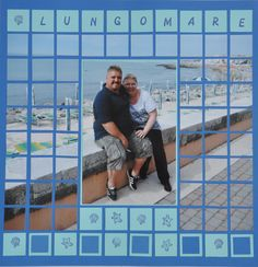 Lungomare, mosaic travel LO, at the Beach in Caorle - Italy