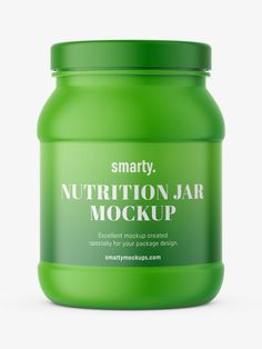 Nutrition jar, used in the pharmaceutical industry as the package for tablets, pills, or capsules. Pharmacy, Pills, Shake, Mockup, Packaging Design, Powder, Nutrition, Jar, Smoothie