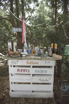 Pallet Bar Outside Drinks Quirky DIY House Party Wedding…