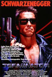 The Terminator is a 1984 American science fiction action film directed by James Cameron, written by Cameron and the film's producer Gale Anne Hurd, and starring Arnold Schwarzenegger, Michael Biehn and Linda Hamilton. Film Movie, Film D'action, Bon Film, 1984 Movie, Fiction Movies, Sci Fi Movies, Pulp Fiction, Science Fiction, Comedy Movies