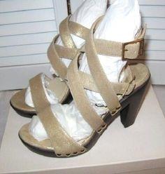 Gorgeous JIMMY CHOO Unity Suede Leather Strappy Platform Sandals, 39, Pale Gold #JimmyChoo #PlatformSandals