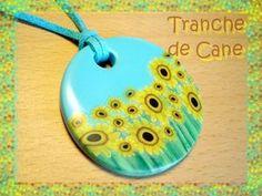 Sunflower cane tutorial from Tranche de Cane