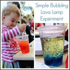 Simple Bubbling Lava Lamp Experiment!