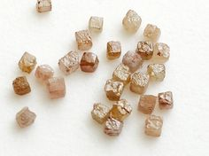 Pink Peach Rough Diamond Box Cubes 1  CTW 4 Pcs by gemsforjewels