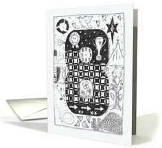 Number Eight (8 ) black/white colouring zentangle... (1287046) (Numerology cards)