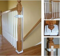 DIY Bottom of stairs baby gate w/ one side banister. Get a