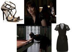 50 Sfumature di Nero Film: Anastasia Steele in Furstenberg e Jimmy Choo