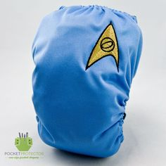 Star Trek TOS Science Inspired - Embroidered One-size (OS) Pocket Cloth Diaper and Microfiber Inserts. $24.95, via Etsy.