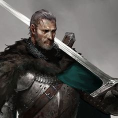 The knight without an arm, JuYoung Ha (untitle) Fantasy Heroes, Fantasy Male, Fantasy Armor, High Fantasy, Medieval Fantasy, Character Concept, Character Art, Concept Art, Character Design