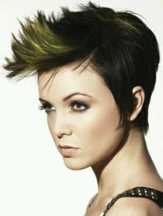 Short funky hair color