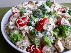 Barefoot Contessa Mustard Chicken Salad Made Lighter. Simple & Delicious. 192 Calories, 5 Weight Watchers Points Plus. http://simple-nourished-living.com/2012/07/barefoot-contessa-mustard-chicken-salad-makeover/