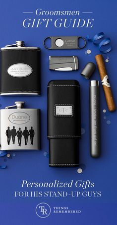 Thank your groomsmen for being there for you and your bride with personalized gifts they'll use for years to come. Find more ideas for your groomsmen at Things Remembered.