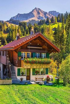 Solve cute house jigsaw puzzle online with 12 pieces Wonderful Places, Beautiful Places, Beautiful Pictures, Beautiful World, Beautiful Homes, Grid Architecture, German Houses, Cabin In The Woods, Cute House