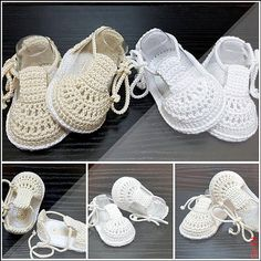 Baby christening shoes ,Crochet Baptism booties,Baby crochet shoes, Crochet baby summer sandals, Crochet boys or girls shoes – Baby For look here Crochet Baby Sandals, Crochet Socks, Crochet Baby Booties, Crochet Baby Blanket Beginner, Baby Knitting, Japanese Crochet Patterns, Christening Shoes, Baby Shoes Pattern, Crochet For Boys