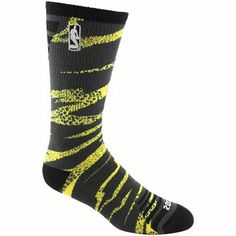 NBA 2013 All-Star Camo Bright Crew Socks - Yellow/Black