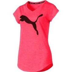 PUMA Damen Heather Cat Tee T-Shirt Trainingsshirt Laufshirt Paradise Pink