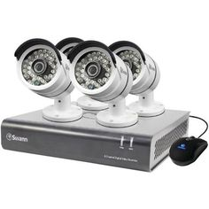 SWANN SWDVK-846004-US 8-Channel AHD 1080A DVR with 4 A855 Bullet Cameras