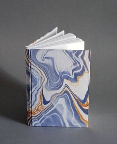 *sale* Journal in Heather and Gold Marbled Silk by NatalieAsIs