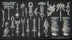 ArtStation - Dota 2 Weapons and Items, Jeremy Klein