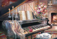Sonata by Firelight (Castorland 1000 Piece Jigsaw Puzzle)