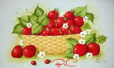 Fruit, Painting & Drawing, Strawberry, Drawings, Food, Fabric Crafts, Make Fabric Flowers, Wild Strawberries, Handmade Notebook