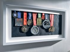 Medals on display - running medals marathon