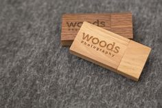 Wedding photography packaging and products | wooden USB flash drive from Woods Photography in Medicine Hat, AB (CANADA). #guestbook #photobook #engagementphotos
