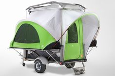 . Check out the SylvanSport Go Camper Trailer. This phenomenal trailer has a unique lightweight design that allows for it to be extremely versatile and hold up three times its own weight. So pack up your dozen bikes, kayaks, two dirt bikes and ATV and head out to the middle of nowhere to finally have your own wild adventure.