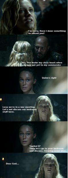 Commander Lexa and Clarke Griffin in a war meeting discussing some stuff… The 100 Tv Series, The 100 Show, The 100 Cast, Lexa The 100, The 100 Clexa, Lexa E Clarke, Commander Lexa, Alycia Debnam, I Miss Her