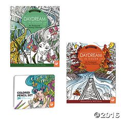 Full of fantastic, flowing designs, these artist-created coloring books will soothe your senses while sparking your creativity and imagination. The intricate details help you focus and relaxl—just select your favorite colors and go! Each book features 23 images printed on thick paper, including 4 fold-out, double-page designs. Images appear twice, so you can experiment with the patterns. Set includes 2 books and 24 artist-grade, easy-grip triangular-barreled pencils in an embossed tin.