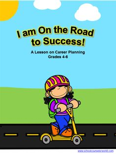 School counselor resources with elementary lesson plans and guidance provide a support system for all students in achieving academic success, career. Elementary School Counseling, School Counselor, Elementary Schools, College Counseling, Career Advice, Career Planning, Career Ideas, Counseling Activities, Interactive Activities