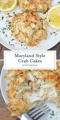 Maryland Crab Cakes are made with jumbo lump crab meat with little filler, Dijon mustard and Old Bay Seasoning plus secrets to making authentic Chesap. - - Maryland Crab Cakes are made Crab Cake Recipes, Fish Recipes, Seafood Recipes, Cooking Recipes, Lump Crab Meat Recipes, Crab Cakes Recipe Best, Crab Pasta Recipes, Dinner Recipes, Desert Recipes