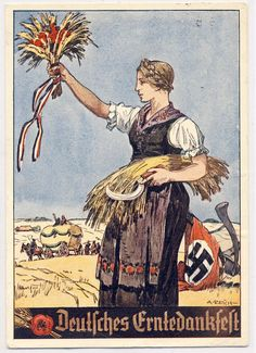 German Harvet festivity 1933. Deutsches Erntedankfest