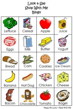 Shop With Me Bingo {Printable Bingo Cards for Kids}