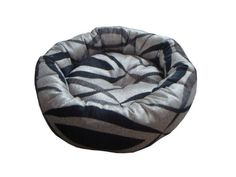 Anima Silver Black and Grey Woven Donut Bed, 18 by 6-Inch, Small *** Details can be found by clicking on the image.