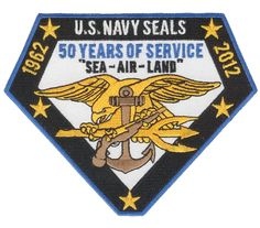 """""""US Navy SEAL 50 Year Patch"""""""