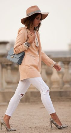 Apricot And White Inspiration Outfit by Lovely Pepa