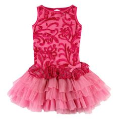 93ff5ed94d26 Hot Pink/Candy Pink Embroidered Tulle Peplum Dress with Shrug from The  Couture baby Little