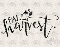 Fall Harvest  Vector  Handwritten by TheSmudgeFactoryLLC on Etsy