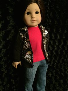 Three piece outfit for American Girl Dolls or any 18 inch doll by ItIsSewYou on Etsy