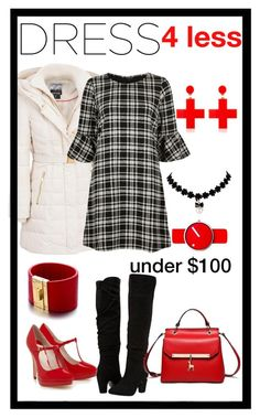 """""""winter dress under $100"""" by morag667 ❤ liked on Polyvore featuring Kensie, Dorothy Perkins, River Island, Rosendahl, Yazbukey and Alberto Moore"""