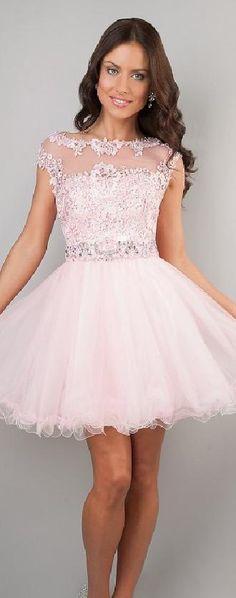 Fashion Light Sky Blue Bateau Short Baby doll Organza Prom Dress tkzdresses13378drge #shortdress #pink #promdress