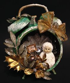 CHRISTMAS ALTERED ART ClockTim Holtz Assemblage by ThePokeyPoodle