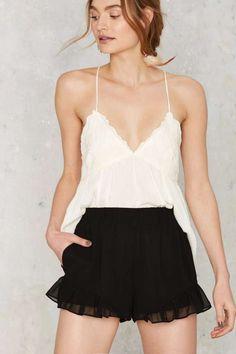 Mojave Ruffle Shorts - Black   Shop Clothes at Nasty Gal!