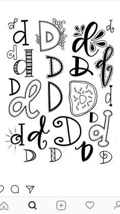 D doodle lettering, doodle fonts, hand lettering alphabet, lettering styl. Doodle Fonts, Doodle Lettering, Creative Lettering, Lettering Styles, Brush Lettering, Hand Lettering Alphabet, Calligraphy Letters, Doodle Alphabet, Graffiti Alphabet
