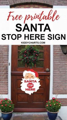 Knock! knock! Santa at your door. Isn't it the most awaiting thing for a kid on Christmas? Gift them this free printable Santa stop here sign craft and let them know that Santa will surely stop after seeing this.