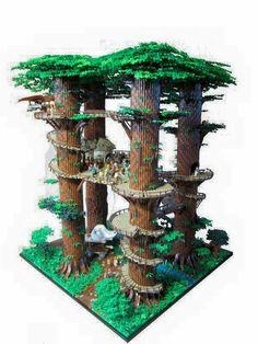 Lego Ewok Village minifigure scale